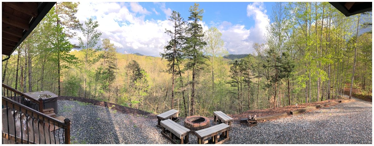 Bryson City family cabin view