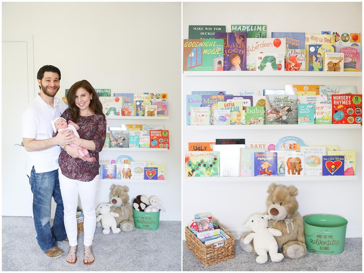 Book display girl nursery