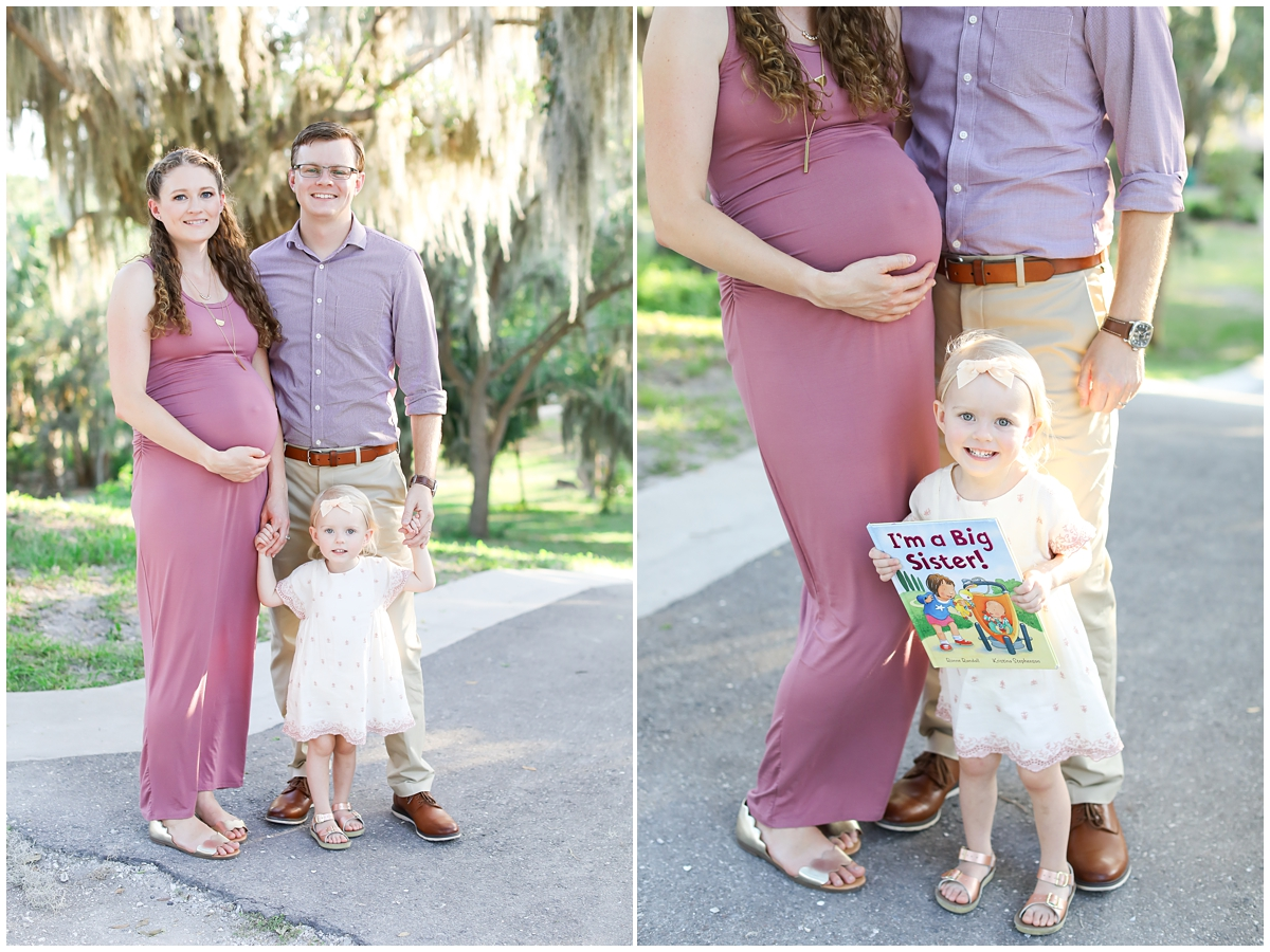 I'm a Big Sister maternity photos