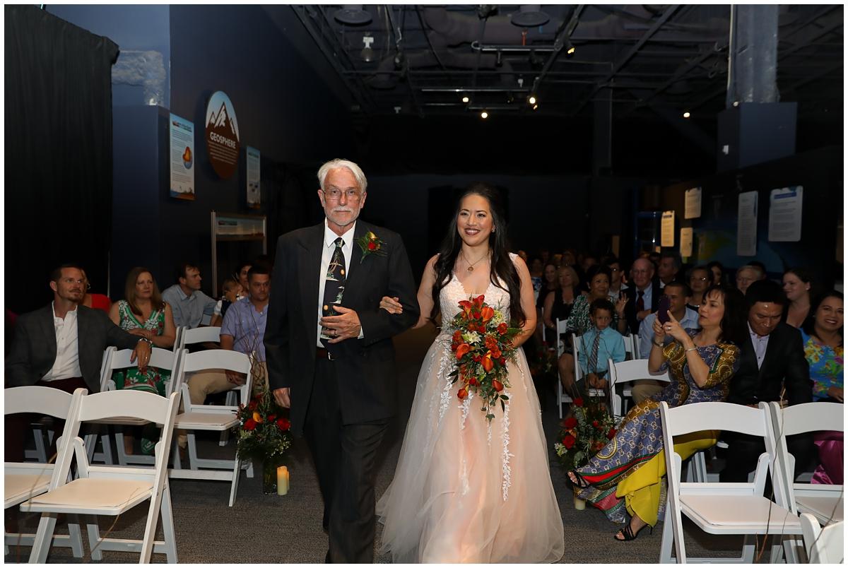 Orlando Science Center Our Planet Wedding