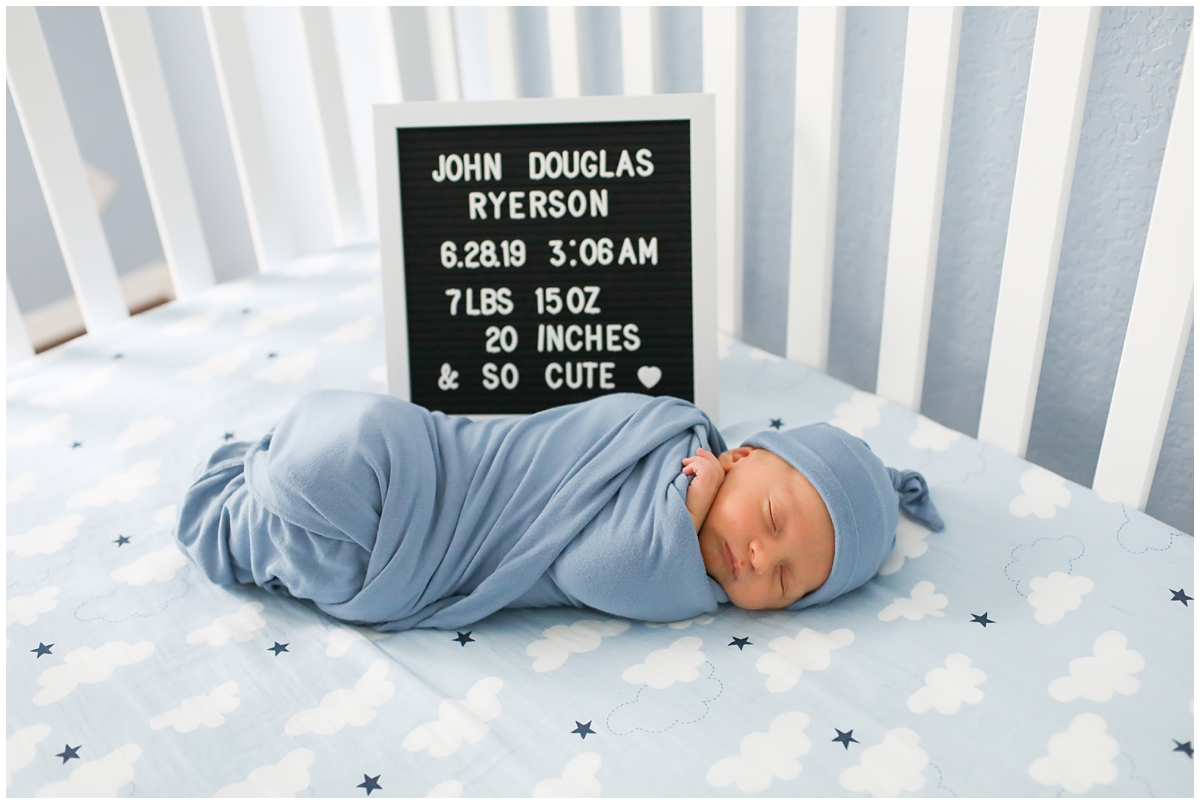 Letter board prop newborn photos
