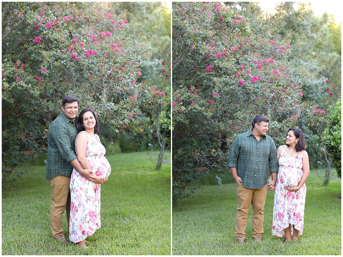 Tampa family backyard maternity session