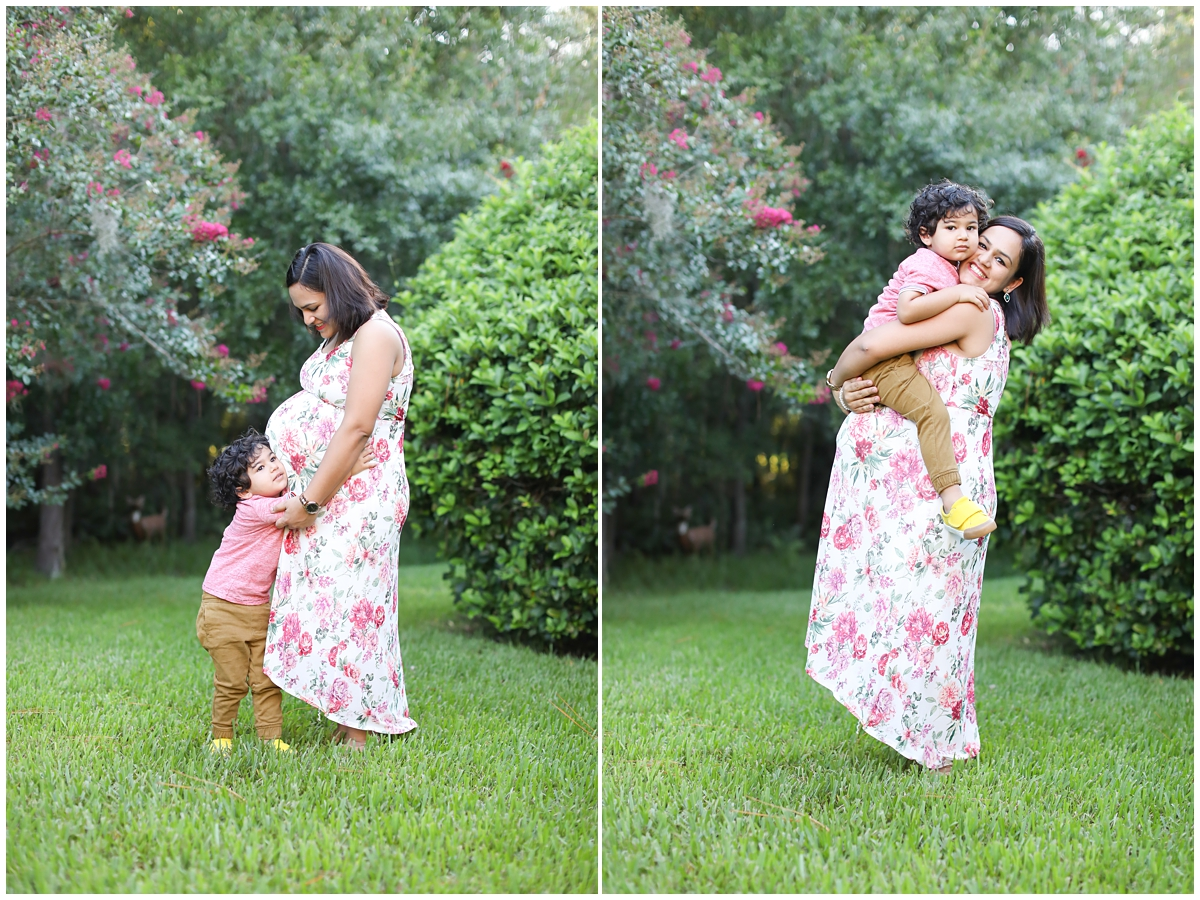Mom toddler maternity photos