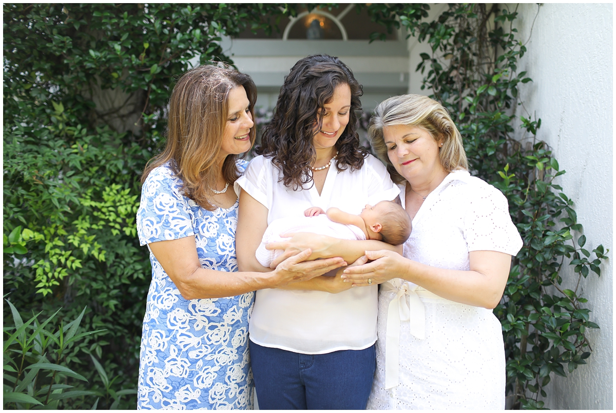 3 generations of women newborn session