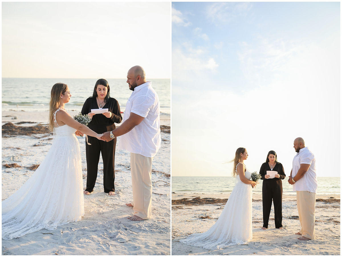 Tampa beach elopement