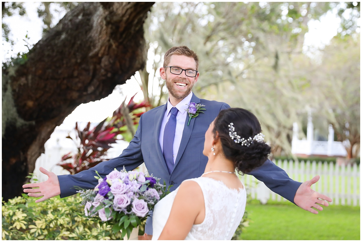 Palmetto Riverside bed and breakfast wedding First Look