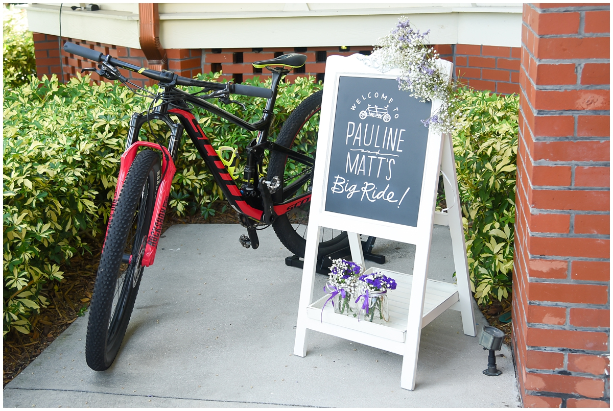 Big ride wedding ceremony chalkboard sign