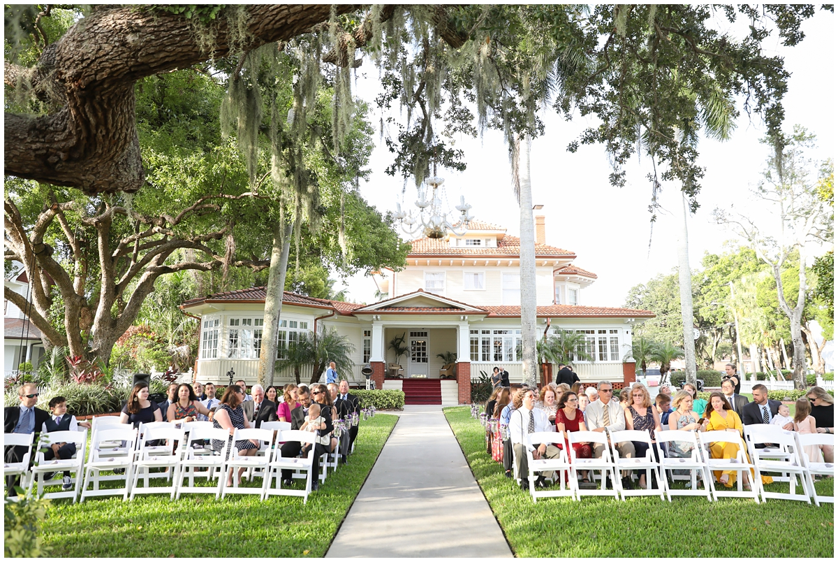 Palmetto Riverside bed and breakfast wedding tree ceremony