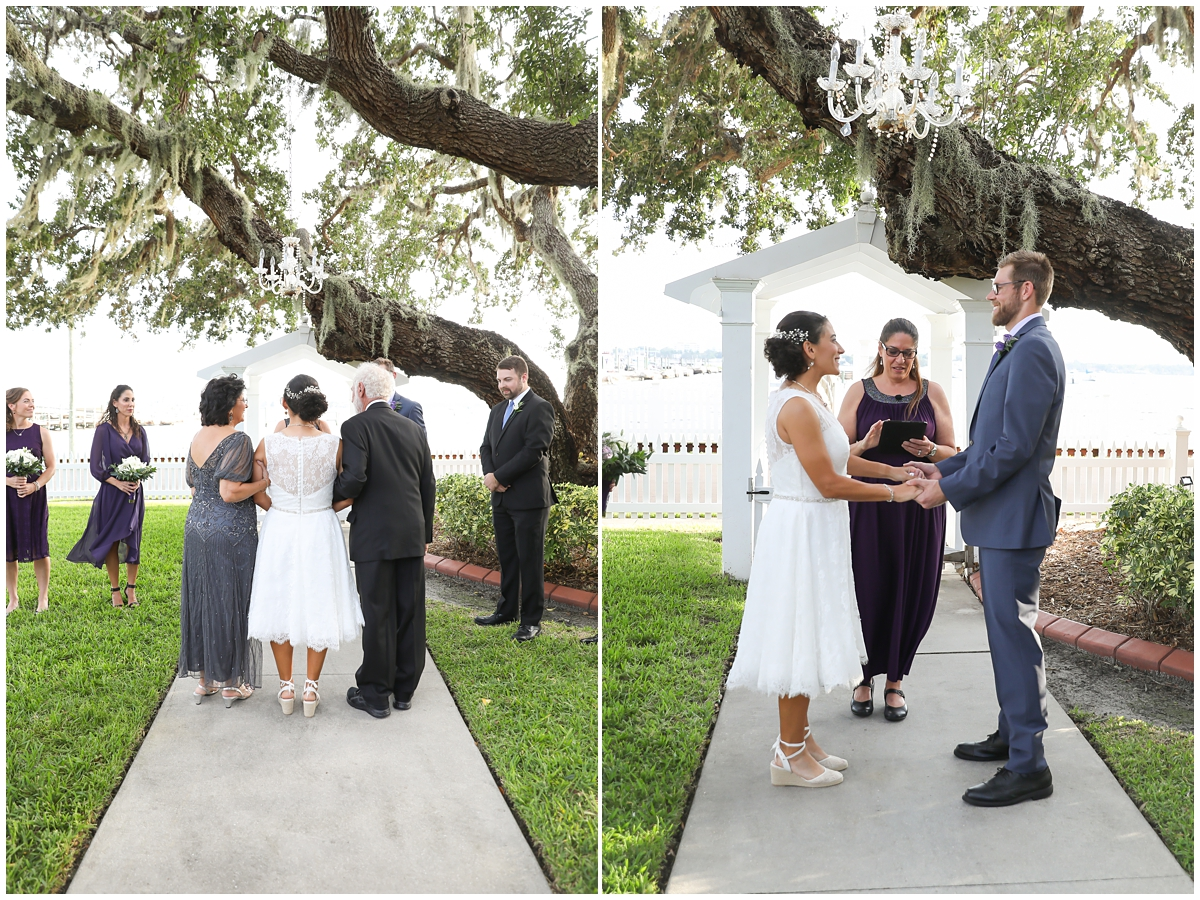 Palmetto Riverside bed and breakfast wedding ceremony