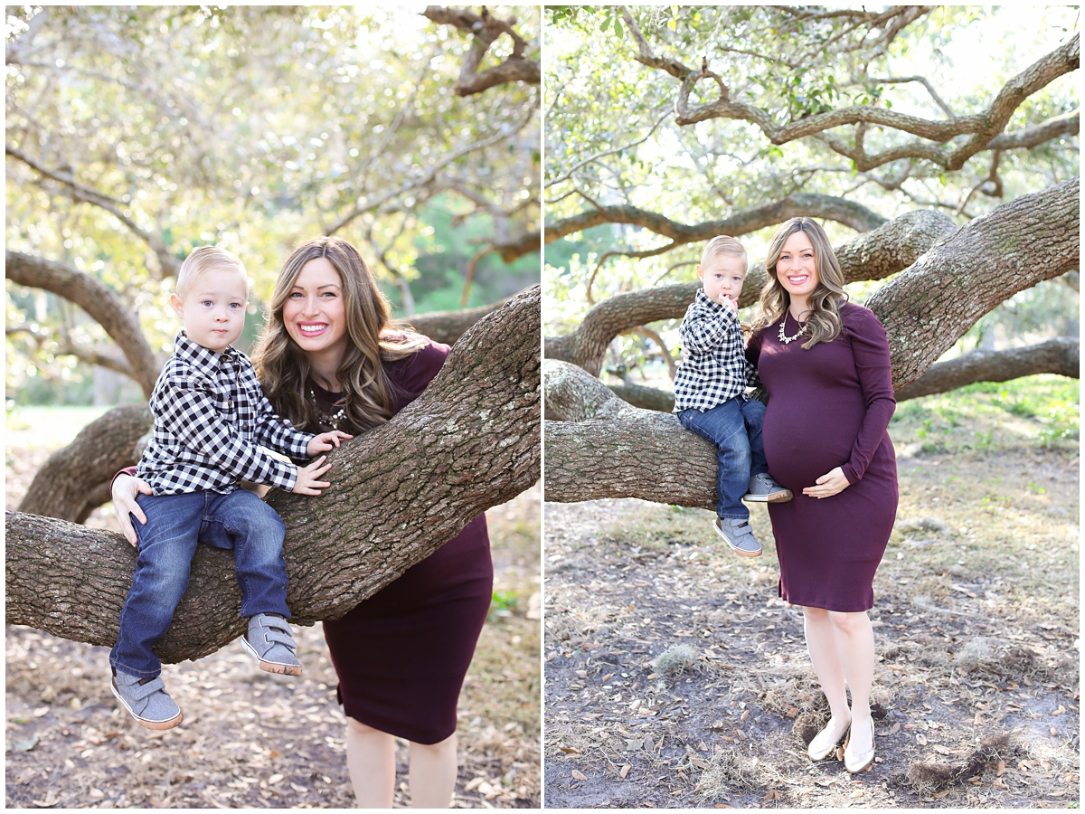 Maternity photos with toddler Tampa