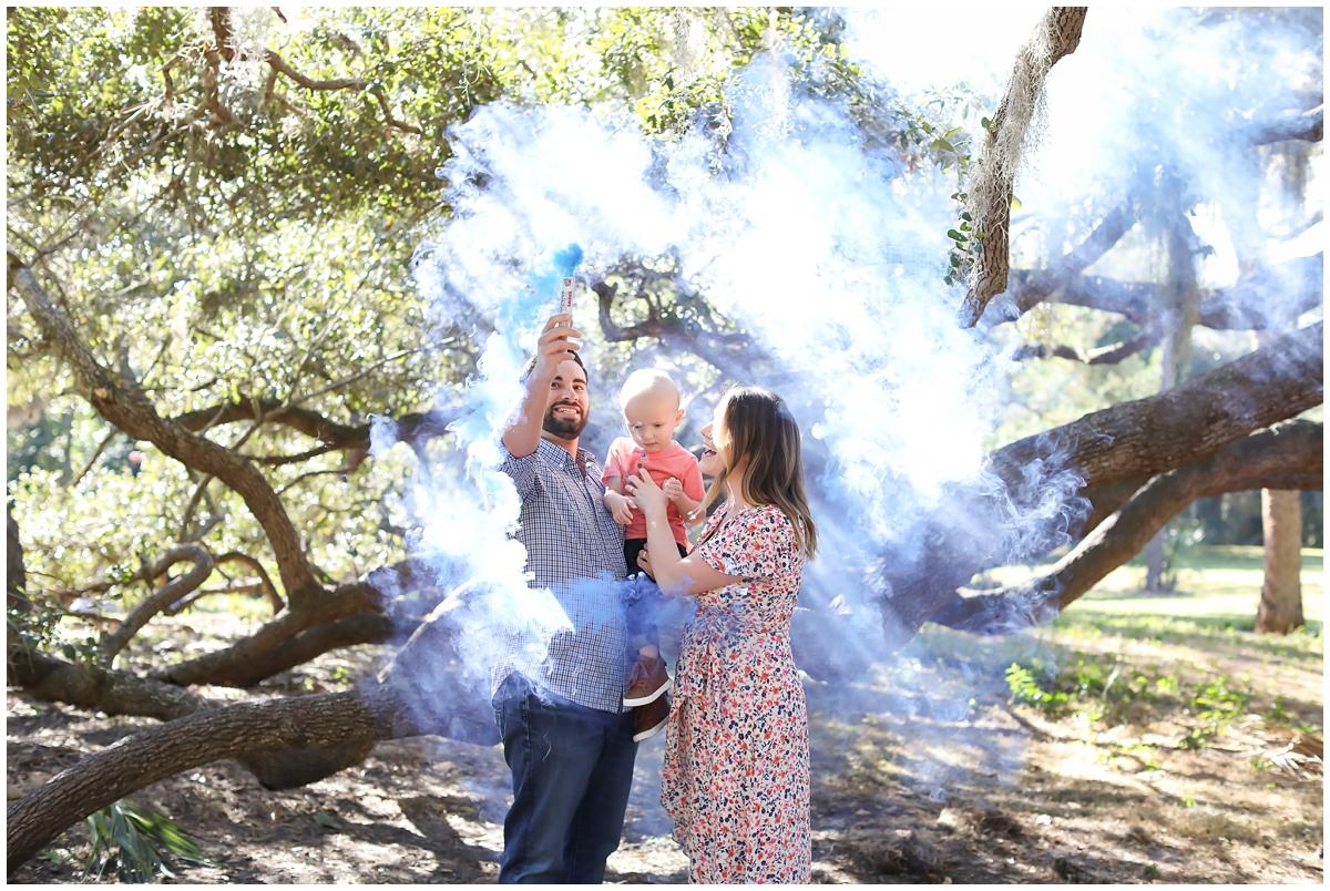 Gender reveal smoke sticks Tampa