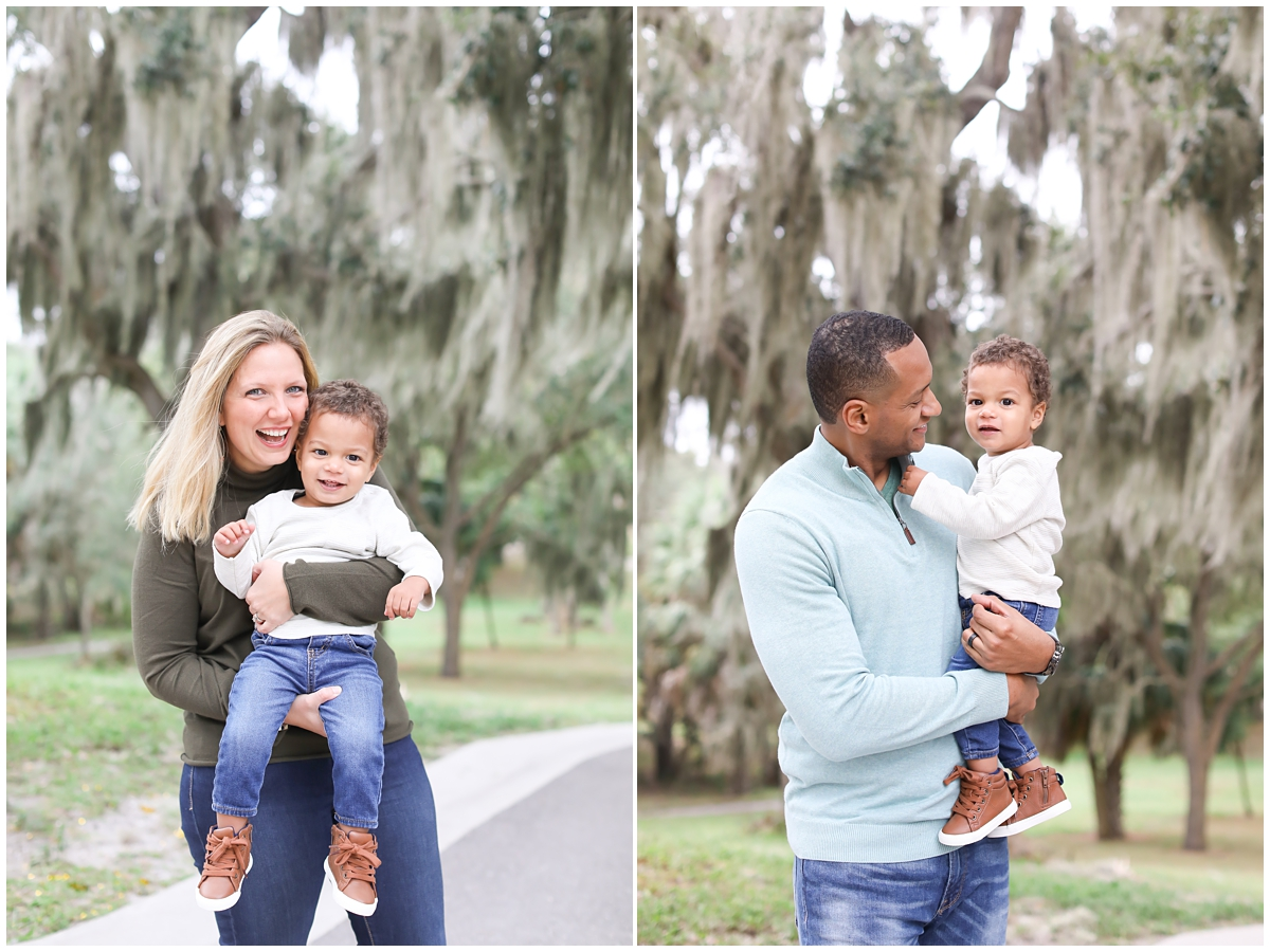Mom Dad toddler family mini session