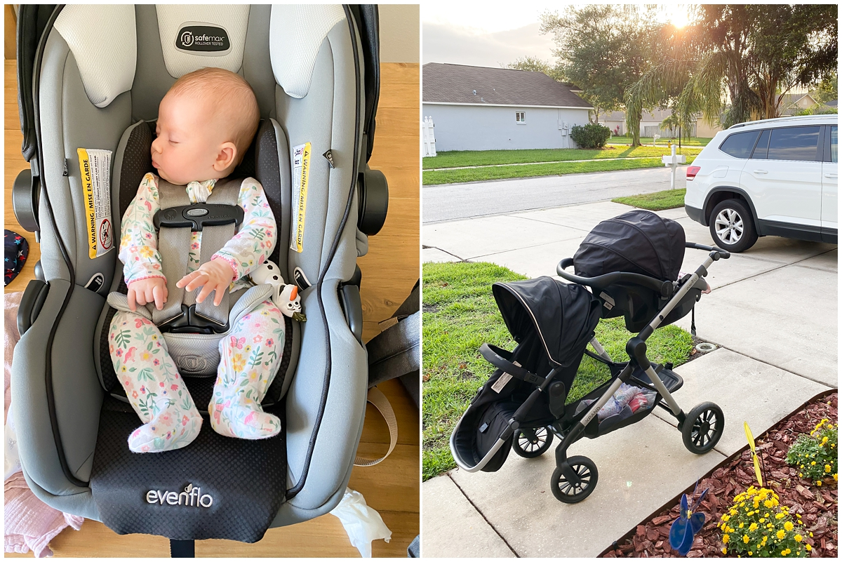 Evenflo pivot xpand double stroller travel system