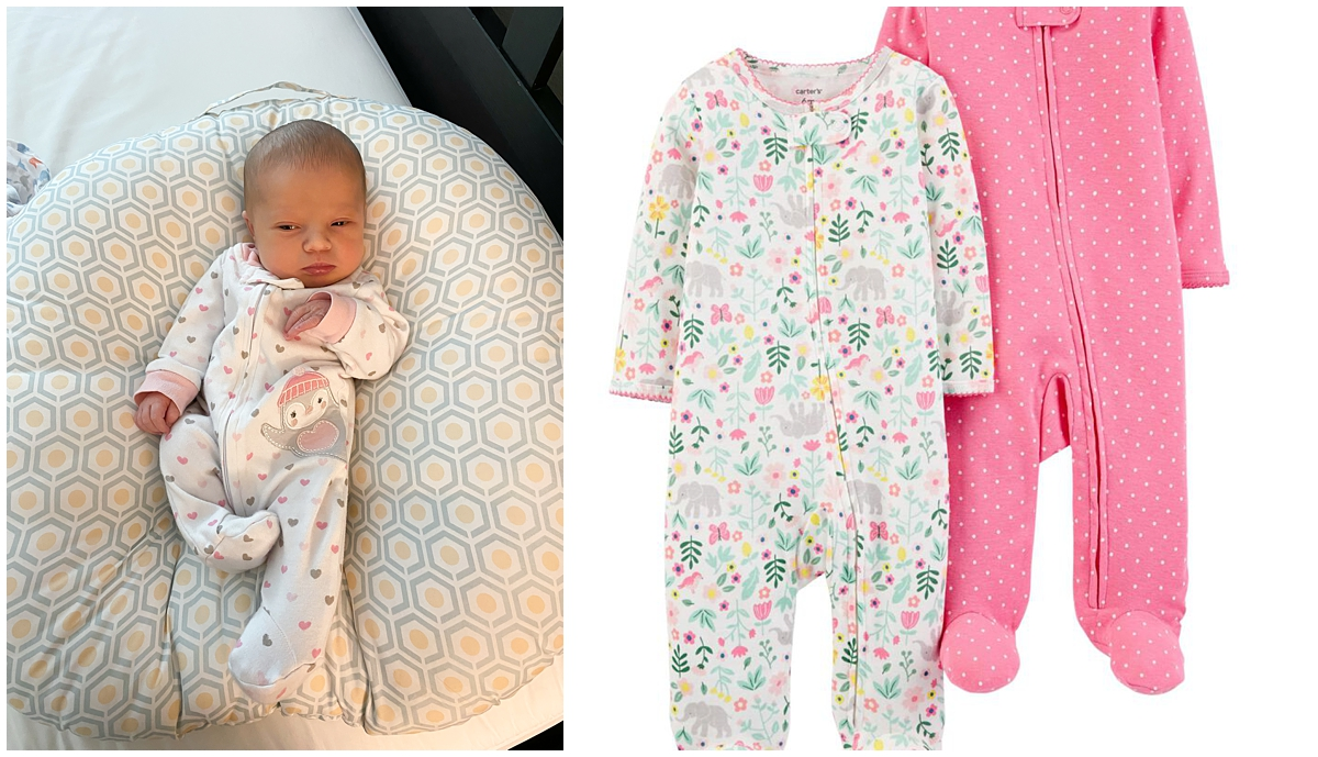 carters zippers pajamas baby registry