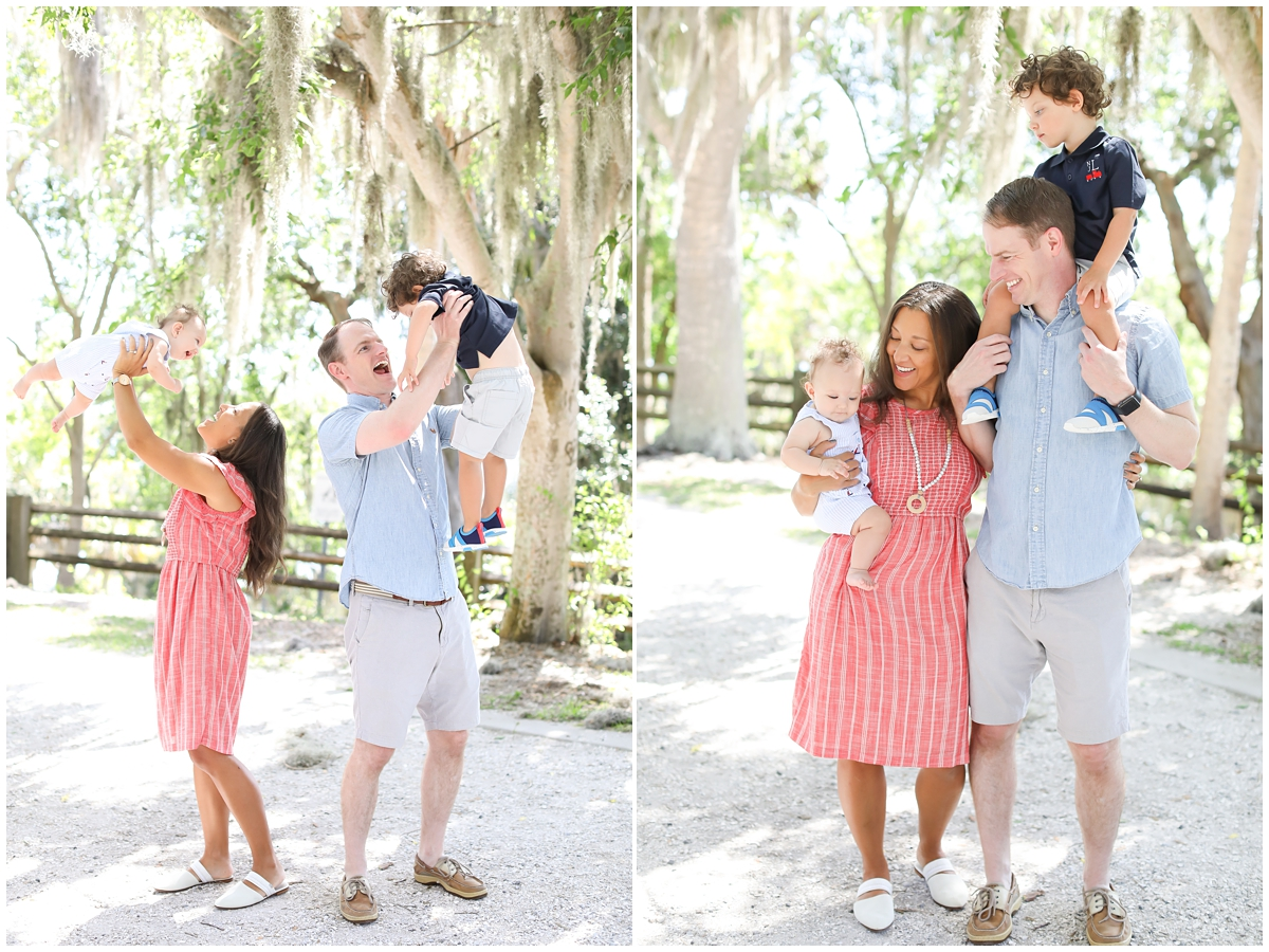 Tampa outdoor park family photography