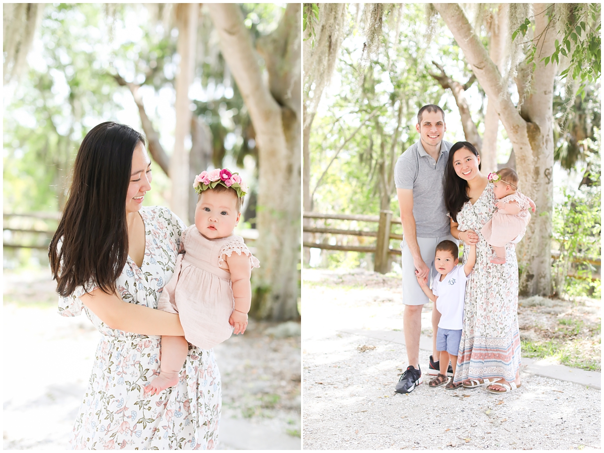 Family six month photo session Tampa