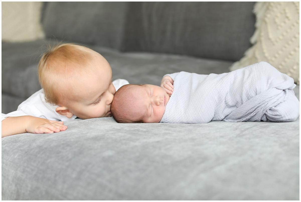 Big little brother newborn session