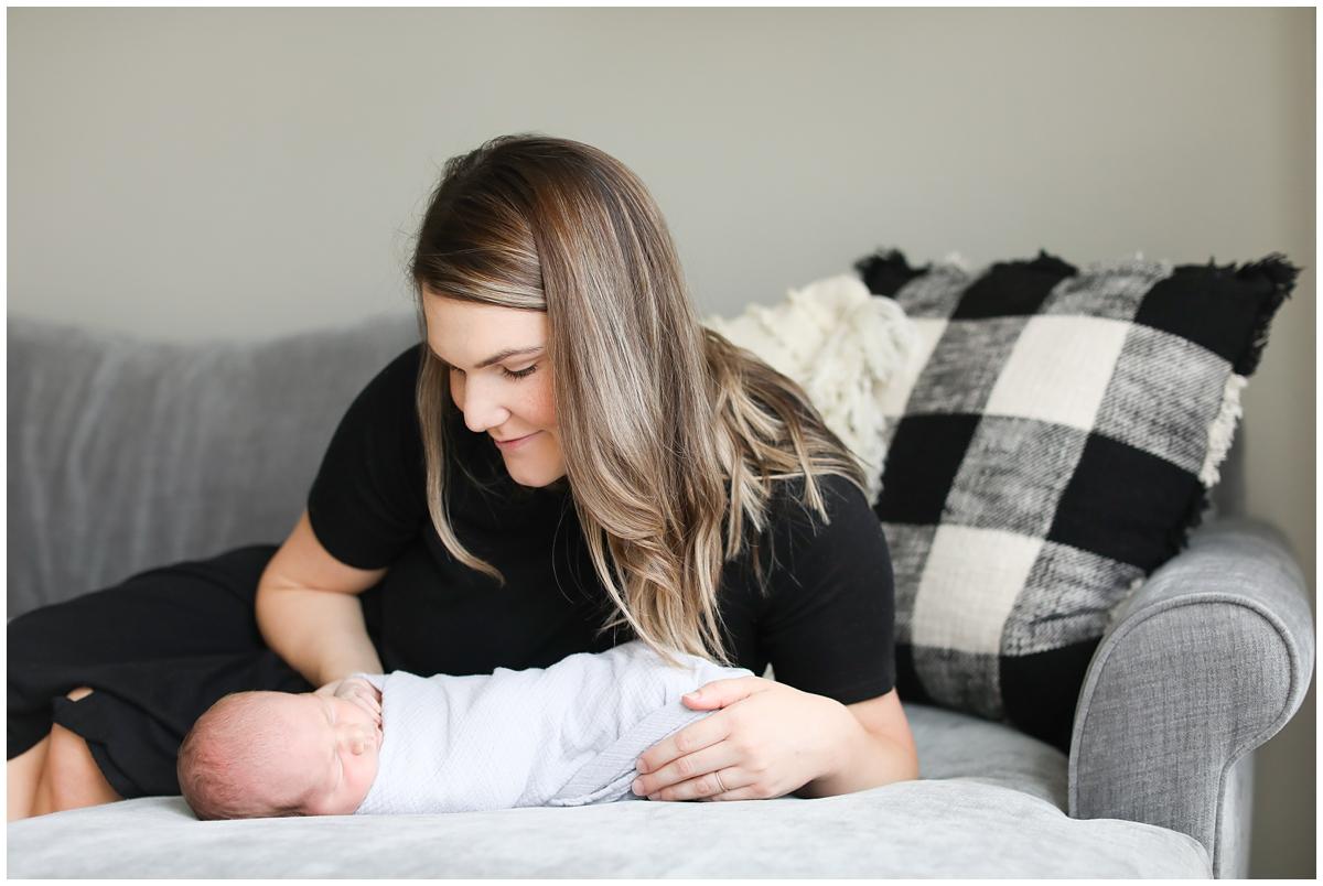 Mommy son baby newborn photos