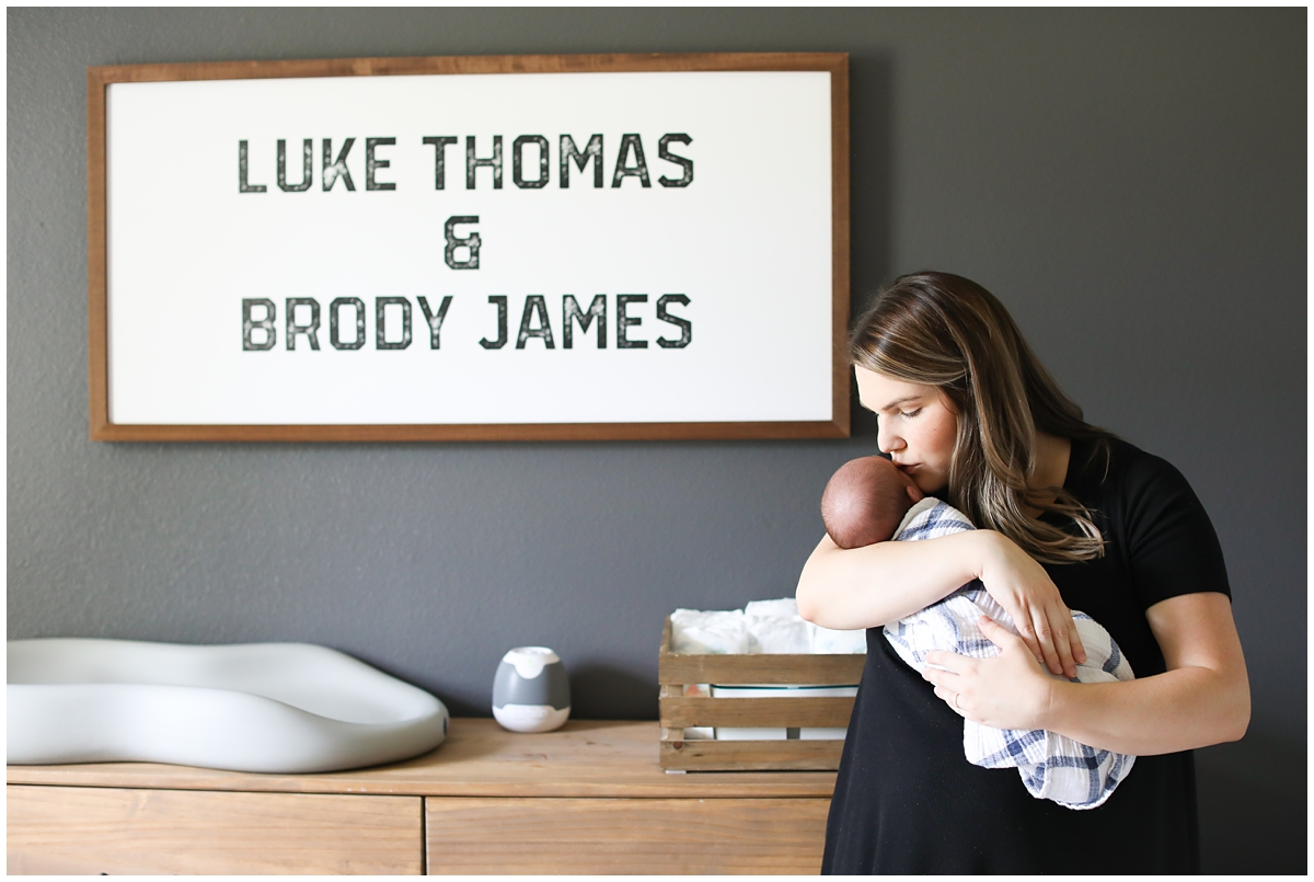Baby boy nursery name sign
