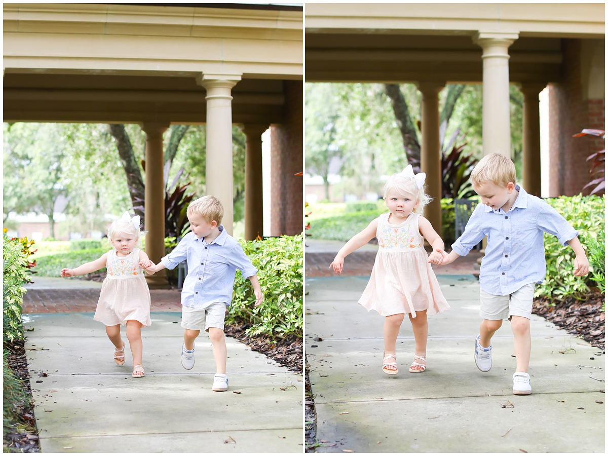 Big brother little sister family photos