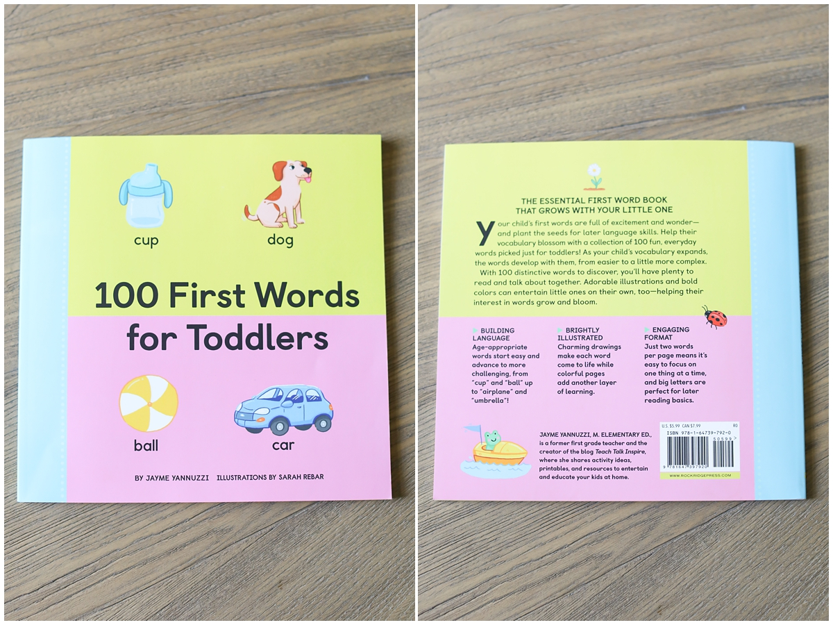 100 First Words for Toddlers Jayme Yannuzzi