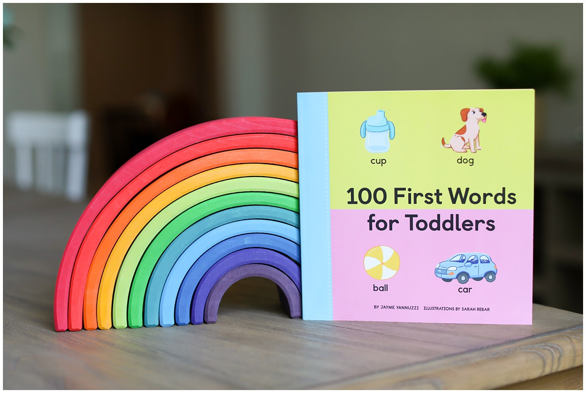 Toddler first words book